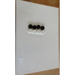 Magnettafel mit 6x Magneten