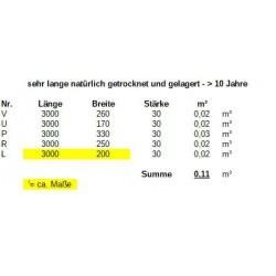 Eschenholz-Stämme 30mm